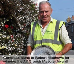 Robert Matthews Awarded the Alf Crouch Mayoral Award  in 2014